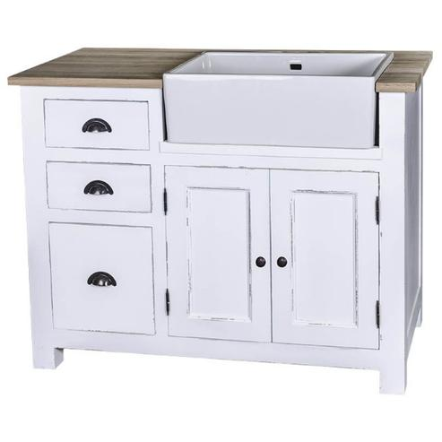k chenelement wei f r sp lbecken k che landhaus m bel. Black Bedroom Furniture Sets. Home Design Ideas