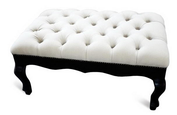 Lederhocker Im Französischen Stil Weiß Sofa Massivholz Bei