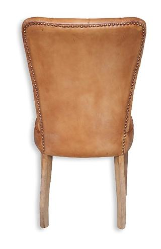 lederstuhl mit kn pfen braun massivholz stuhl bei m belhaus hamburg. Black Bedroom Furniture Sets. Home Design Ideas