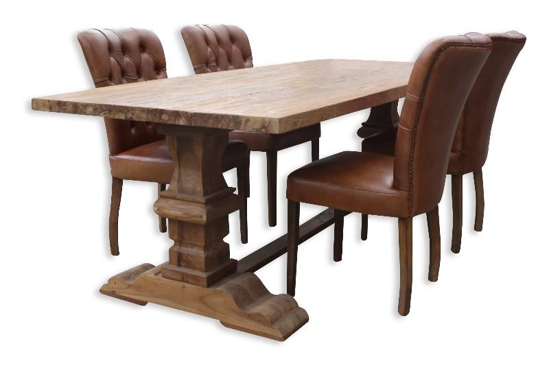 lederstuhl mit kn pfen braun st hle sofas sessel st hle bei m belhaus hamburg. Black Bedroom Furniture Sets. Home Design Ideas