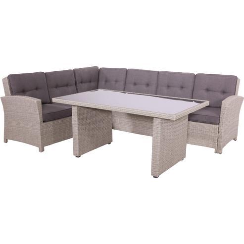 lounge eckbank aus rattan mit esstisch gartenm bel. Black Bedroom Furniture Sets. Home Design Ideas