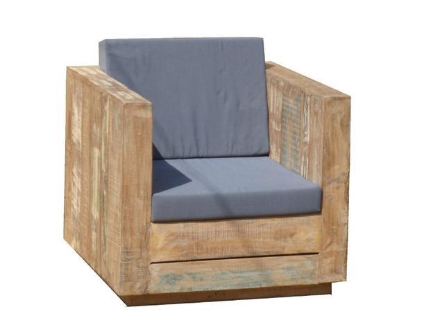 Lounge Sessel Fur Den Garten Aus Altem Holz Teakholz Gartenmobel