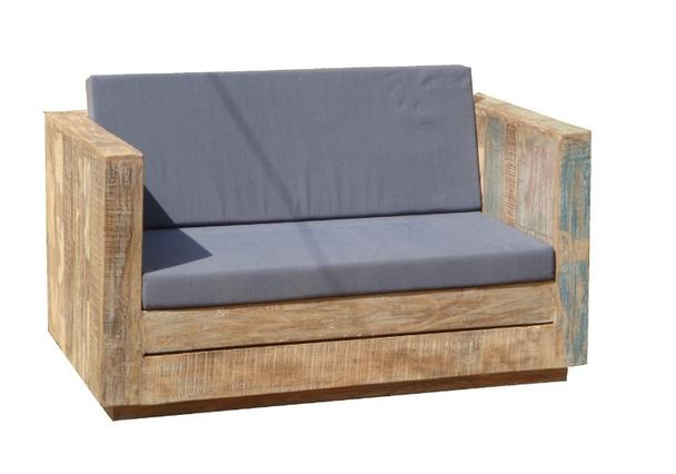 loungesofa f r den garten mit kissen teakholz gartenm bel gartenm bel nach material bei. Black Bedroom Furniture Sets. Home Design Ideas