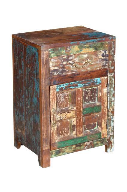 nachtschrank bunt shabby chic kleinm bel vintage m bel. Black Bedroom Furniture Sets. Home Design Ideas
