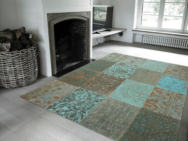 Teppich grün blau  Patchwork Teppich Grün/Blau bei Möbelhaus Hamburg