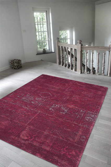patchwork teppich rot teppiche accessoires bei m belhaus hamburg. Black Bedroom Furniture Sets. Home Design Ideas
