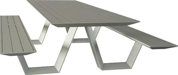 picknick bank aus aluminium terrassenm bel gartentische garten bei m belhaus hamburg. Black Bedroom Furniture Sets. Home Design Ideas