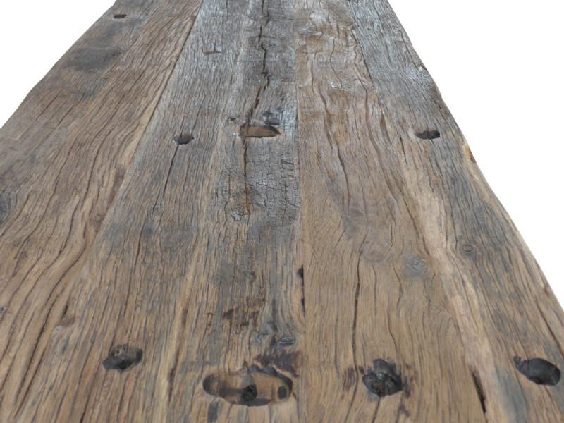 Alte Esstische Holz railway esstisch aus alten eiche bahndielen mit eisen untergestell