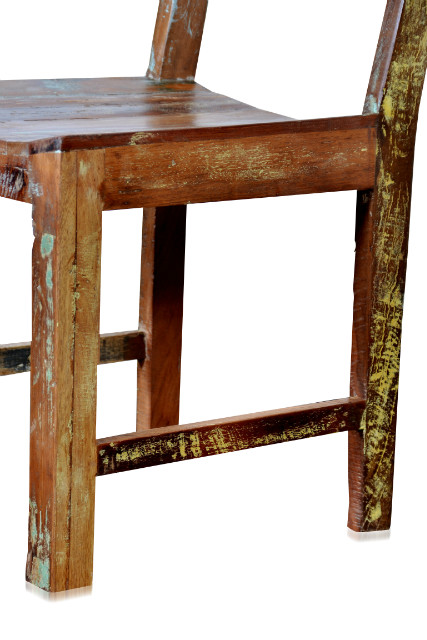 Recycling Holz Stuhl Ohne Armlehnen Bunt Sofa Massivholz Bei Möbelhaus Hamburg