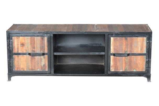 recycling holz tv sideboard industrielle m bel bei m belhaus hamburg. Black Bedroom Furniture Sets. Home Design Ideas