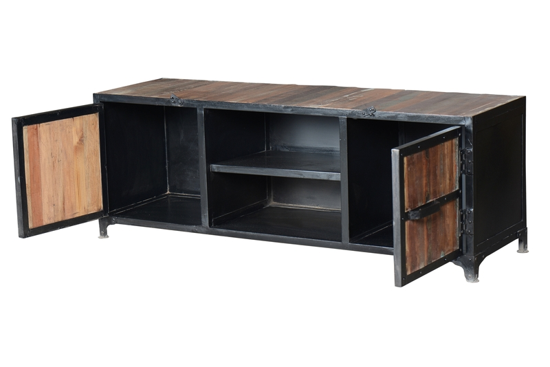 recycling holz tv sideboard industrielle m bel bei. Black Bedroom Furniture Sets. Home Design Ideas