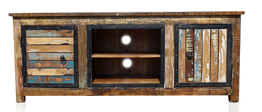 recycling holz vintage tv sideboard aus massivholz kommoden sideboards vintage m bel bei. Black Bedroom Furniture Sets. Home Design Ideas