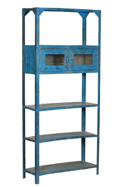 regal blau shabby chic altes holz regale produkte m belhaus hamburg. Black Bedroom Furniture Sets. Home Design Ideas