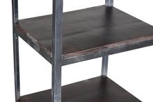regal gro auf rollen aus eisen und holz schr nke industrielle m bel bei m belhaus hamburg. Black Bedroom Furniture Sets. Home Design Ideas