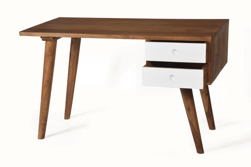 retro schreibtisch massivholz vintage m bel bei. Black Bedroom Furniture Sets. Home Design Ideas