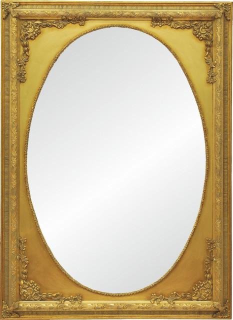 Runder spiegel mit gold rahmen aus holz spiegel deko bei m belhaus hamburg - Runder spiegel gold ...