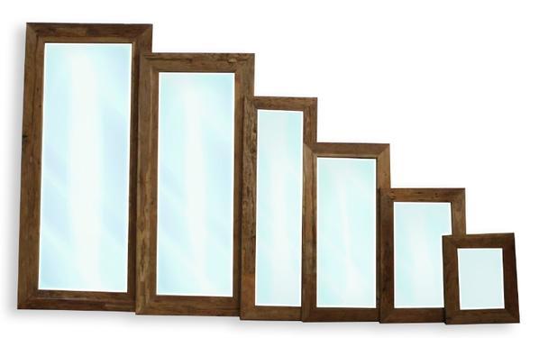 Rustikaler holzspiegel altes holz garderobenspiegel flur diele wohnbereiche bei - Rustikaler spiegel ...