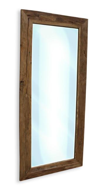 Rustikaler holzspiegel altes holz accessoires bei m belhaus hamburg - Rustikaler spiegel ...