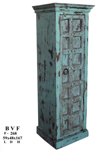 schmaler schrank t rkis altes holz flur diele. Black Bedroom Furniture Sets. Home Design Ideas