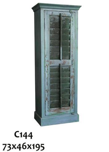Schrank aus Indien mit Lamellentüren blau - Schränke - Vintage ...