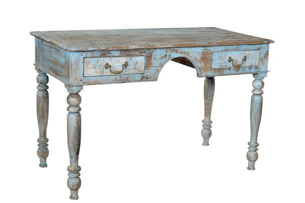 Schreibtisch vintage  Schreibtisch blau Vintage