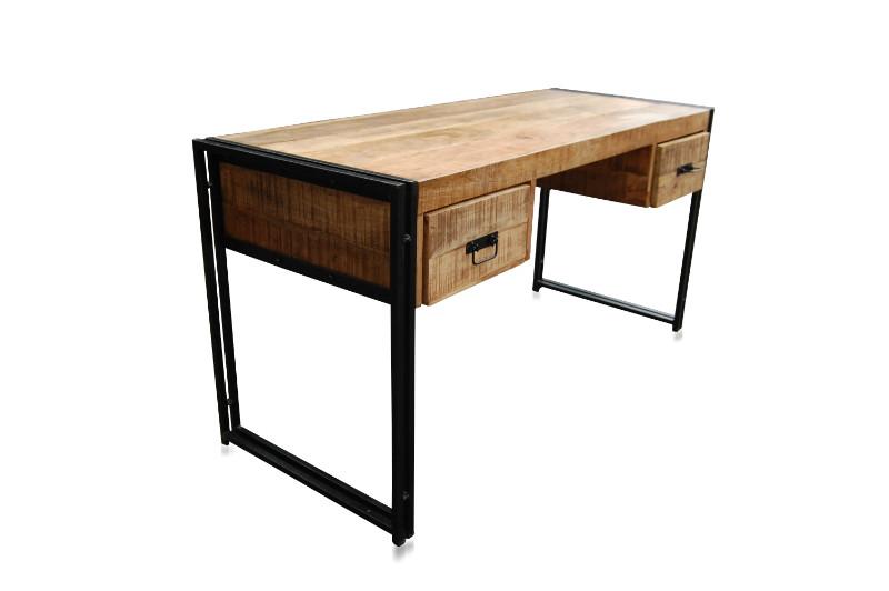 schreibtisch industriell mit schubladen industrielle. Black Bedroom Furniture Sets. Home Design Ideas