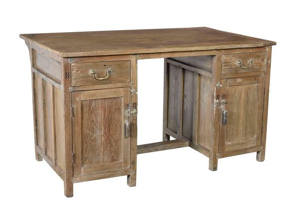 schreibtisch massives holz tische vintage m bel bei m belhaus hamburg. Black Bedroom Furniture Sets. Home Design Ideas