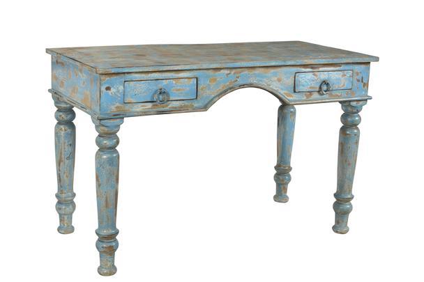 Schreibtisch vintage  Schreibtisch Vintage blau