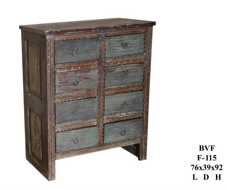 schubladenkommode indisch shabby chic vintage m bel bei. Black Bedroom Furniture Sets. Home Design Ideas
