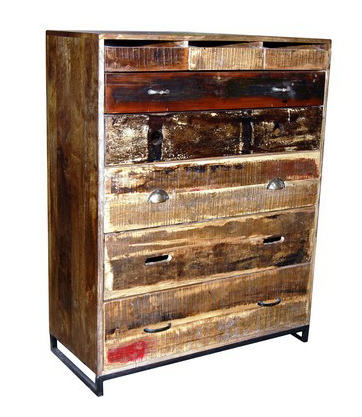 schubladenkommode vintage holz kommoden sideboards industrielle m bel bei m belhaus hamburg. Black Bedroom Furniture Sets. Home Design Ideas