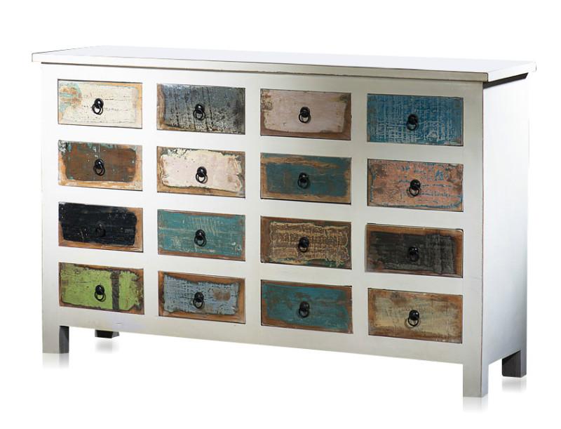 schubladenschrank mit 16 schubladen massivholz kommoden. Black Bedroom Furniture Sets. Home Design Ideas