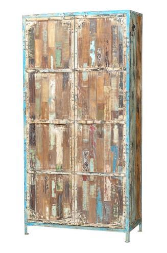 Shabby Chic Schrank Mit Eisen Und Holz Schranke Vintage Mobel