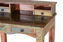 shabby chic schreibtisch indisch tische vintage m bel bei m belhaus hamburg. Black Bedroom Furniture Sets. Home Design Ideas