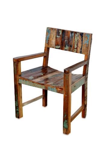 Esstisch Stühle Mit Armlehne shabby chic stuhl mit armlehnen aus recycling holz sofas sessel