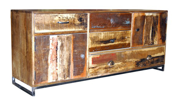 Sideboard altes holz indisch industrielle m bel bei for Sofa indisch