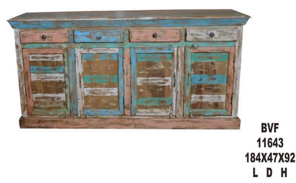 Sideboard Aus Altem Holz Bunt Vintage Sideboard Bei Mobelhaus Hamburg