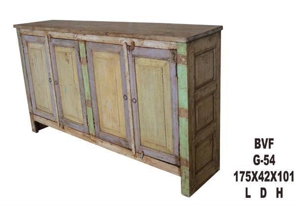 Sideboard Aus Massivem Holz Bunt Vintage Sideboard Bei Mobelhaus