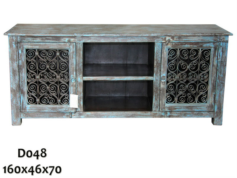 Sideboard blau Shabby Chic - TV Sideboards - Vintage Möbel ...