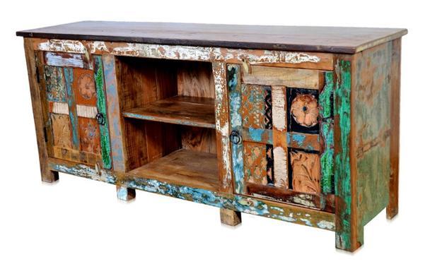 sideboard f r tv aus altholz industrial sideboard bei. Black Bedroom Furniture Sets. Home Design Ideas