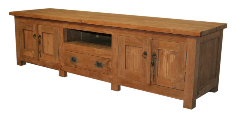 sideboard f r tv teakholz kommoden sideboards. Black Bedroom Furniture Sets. Home Design Ideas