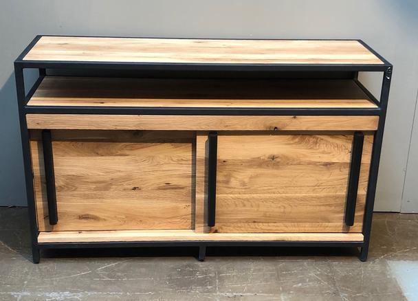 Sideboard Massivholz Eiche Und Eisen Industrial Sideboard Bei