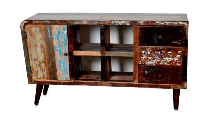 Sideboard retro style shabby chic industrielle m bel bei - Retro mobel hamburg ...