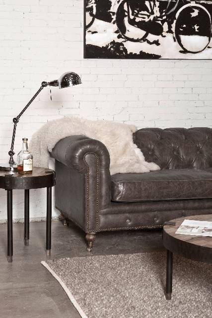 sofa chesterfield echtes leder sofas sofas sessel st hle bei m belhaus hamburg. Black Bedroom Furniture Sets. Home Design Ideas