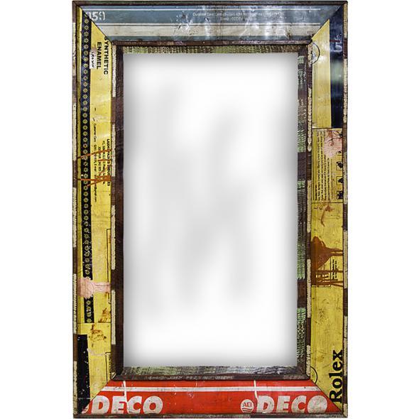 Spiegel mit rahmen aus alten f ssern accessoires bei for Spiegel tv vom sonntag