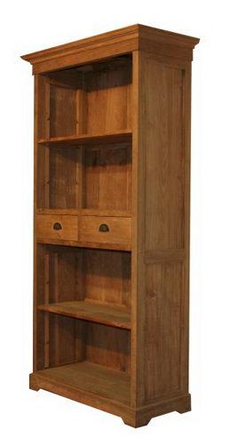 teakholz b cherregal mit schubladen schrank massivholz bei m belhaus hamburg. Black Bedroom Furniture Sets. Home Design Ideas