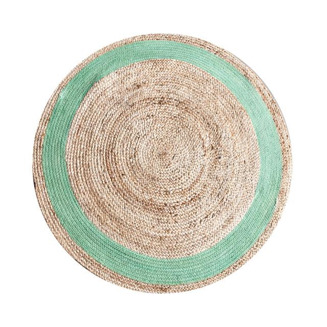 Teppich jute rund blomap