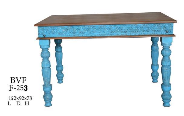 Tisch Blau Shabby Chic Aus Recyceltem Holz Tisch Bei Mobelhaus Hamburg