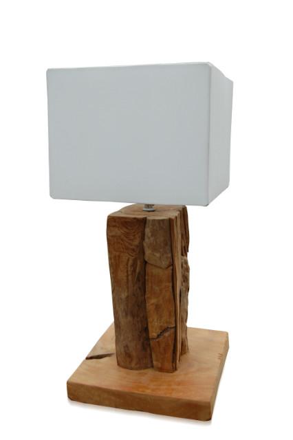 Tischlampe Root Eckig mit Schirm Eckig  Tischleuchten  ~ Spülbecken Eckig