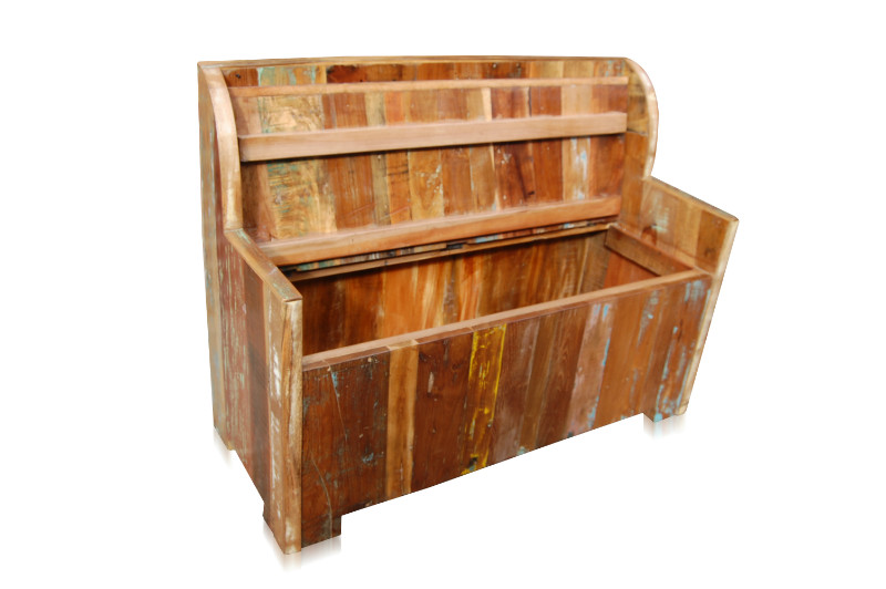 truhenbank shabby chic altholz sitzb nke vintage m bel. Black Bedroom Furniture Sets. Home Design Ideas