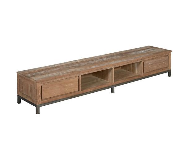 TV-Lowboard Massiv Teakholz Design